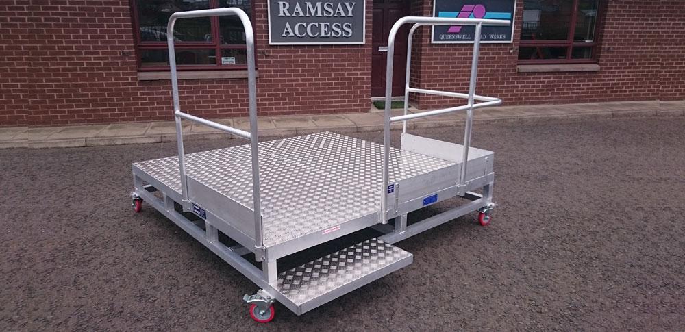 Aluminium Alloy Low Level Mobile Work Platform