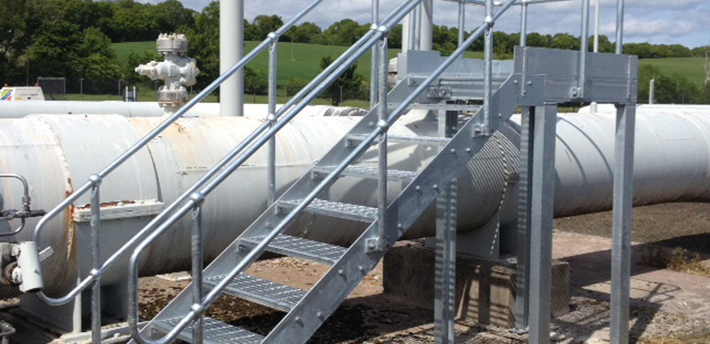 CE marked galvanised mild steel access stair