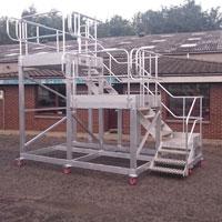Aluminium Alloy Double Height Mobile Work Platform