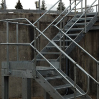 Galvanised Mild Steel Staircase And Handrails